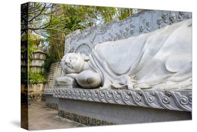 Reclining Buddha at Long Son Pagoda (Chua Long Son) Buddhist Temple, Khanh Hoa Province, Vietnam-Jason Langley-Stretched Canvas Print
