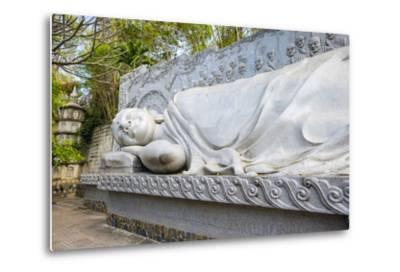 Reclining Buddha at Long Son Pagoda (Chua Long Son) Buddhist Temple, Khanh Hoa Province, Vietnam-Jason Langley-Metal Print
