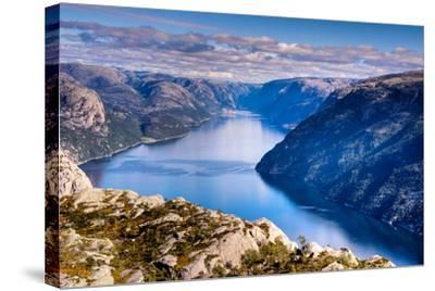 Pulpit Rock, Lysefjord View, Stavanger, Norway, Scandinavia, Europe-Jim Nix-Stretched Canvas Print