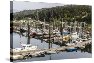 Queen Charlotte City Harbor, Haida Gwaii (Queen Charlotte Islands), British Columbia-Michael Nolan-Stretched Canvas Print