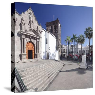 Iglesia De El Salvador Church at Plaza De Espana, Spain-Markus Lange-Stretched Canvas Print