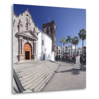 Iglesia De El Salvador Church at Plaza De Espana, Spain-Markus Lange-Metal Print
