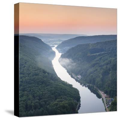 Saar Loop (Grosse Saarschleife) Seen from Cloef Viewing Point, Germany-Markus Lange-Stretched Canvas Print