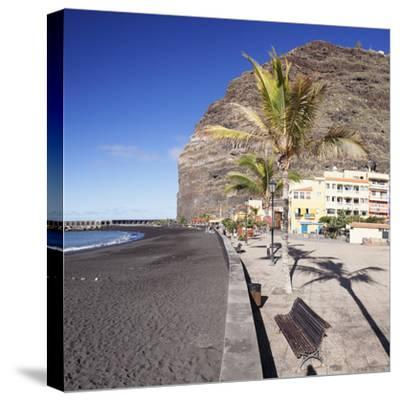 Beach of Puerto De Tazacorte, La Palma, Canary Islands, Spain, Europe-Markus Lange-Stretched Canvas Print