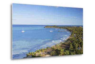 View of Mana Island, Mamanuca Islands, Fiji, South Pacific, Pacific-Ian Trower-Metal Print