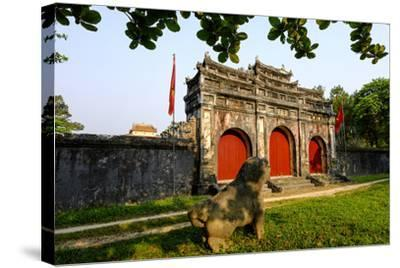 Tomb of the Emperor Minh Mang of Nguyen Dynasty, Sung an Palace, Group of Hue Monuments-Nathalie Cuvelier-Stretched Canvas Print