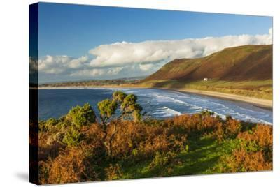 Rhossili Bay, Gower, Wales, United Kingdom, Europe-Billy Stock-Stretched Canvas Print