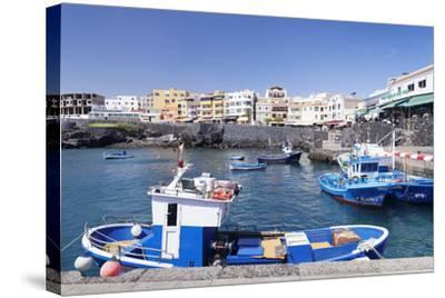 Fishing Boats at the Port, Los Abrigos, Tenerife, Canary Islands, Spain, Atlantic, Europe-Markus Lange-Stretched Canvas Print