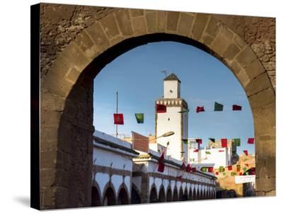 Medina Street Scene, Essaouira, Morocco, North Africa, Africa-Charles Bowman-Stretched Canvas Print