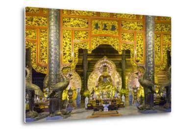 Tam the Hall at Bai Dinh Temple (Chua Bai Dinh), Gia Vien District, Ninh Binh Province, Vietnam-Jason Langley-Metal Print