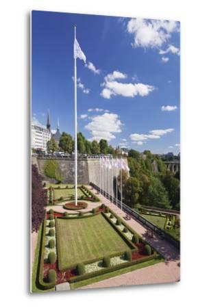 Place De La Constitution, Luxembourg City, Grand Duchy of Luxembourg, Europe-Markus Lange-Metal Print