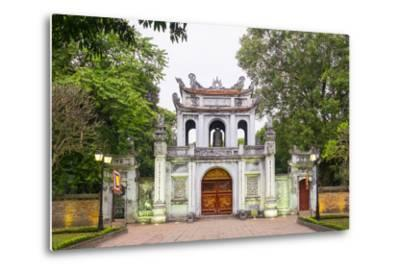 Temple of Literature Gate at Dusk, Dong Da District, Hanoi, Vietnam, Indochina, Southeast Asia-Jason Langley-Metal Print