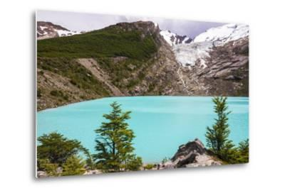 Huemul Lake (Lago Huemul) and Huemul Glacier (Glaciar Huemul), El Chalten, Patagonia, Argentina-Matthew Williams-Ellis-Metal Print