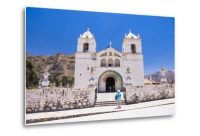 Iglesia De Santa Ana De Maca, a Church in Maca, Colca Canyon, Peru, South America-Matthew Williams-Ellis-Metal Print