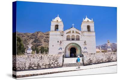 Iglesia De Santa Ana De Maca, a Church in Maca, Colca Canyon, Peru, South America-Matthew Williams-Ellis-Stretched Canvas Print