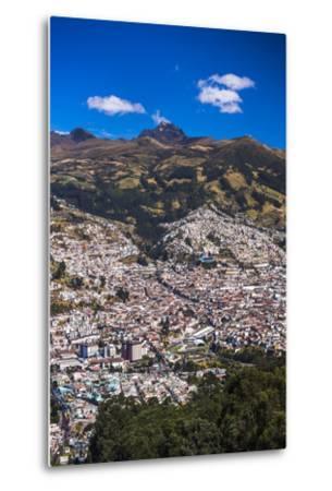 Quito, with Pichincha Volcano in the Background, Ecuador, South America-Matthew Williams-Ellis-Metal Print