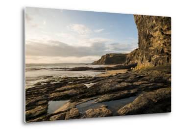 Druidston Haven Beach at Dusk, Pembrokeshire Coast National Park, Wales, United Kingdom, Europe-Ben Pipe-Metal Print