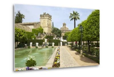 Gardens in Alcazar, Cordoba, Andalucia, Spain, Europe-Peter Barritt-Metal Print