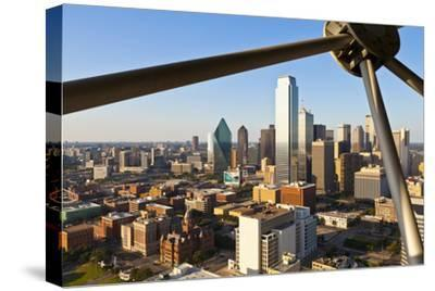 Skyline from Reunion Tower, Dallas, Texas, United States of America, North America-Kav Dadfar-Stretched Canvas Print
