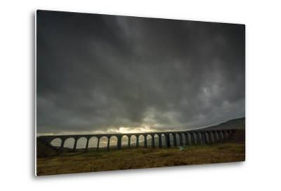 Ribblehead Viaduct, Sunset, Yorkshire Dales National Park, Yorkshire, England, United Kingdom-Bill Ward-Metal Print