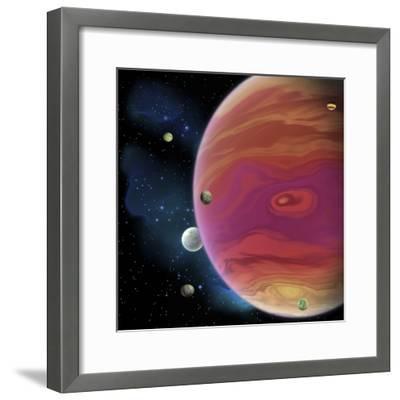 Artist's Concept of Planet Jupiter-Stocktrek Images-Framed Art Print