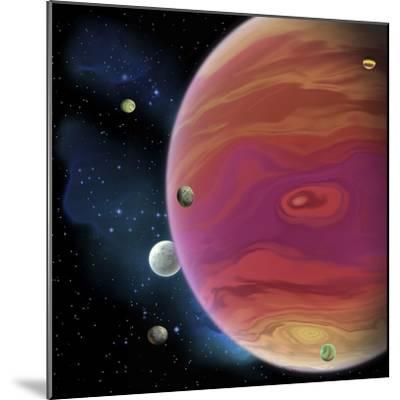 Artist's Concept of Planet Jupiter-Stocktrek Images-Mounted Art Print