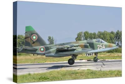 A Bulgarian Air Force Su-25 Jet During Exercise Thracian Star-Stocktrek Images-Stretched Canvas Print