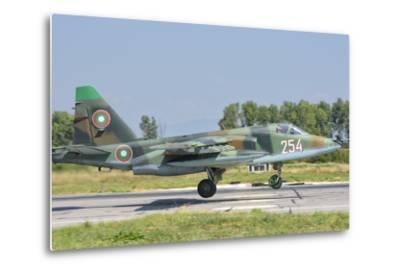 A Bulgarian Air Force Su-25 Jet During Exercise Thracian Star-Stocktrek Images-Metal Print