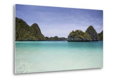 Rugged Limestone Islands Surround a Gorgeous Lagoon in Raja Ampat-Stocktrek Images-Metal Print