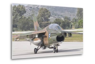 Hellenic Air Force Ta-7 Corsair Ii at Araxos Air Base, Greece-Stocktrek Images-Metal Print