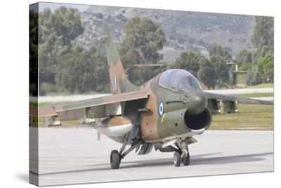 Hellenic Air Force Ta-7 Corsair Ii at Araxos Air Base, Greece-Stocktrek Images-Stretched Canvas Print