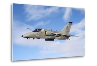An Italian Air Force Amx During an Air-To-Air Refueling Operation-Stocktrek Images-Metal Print