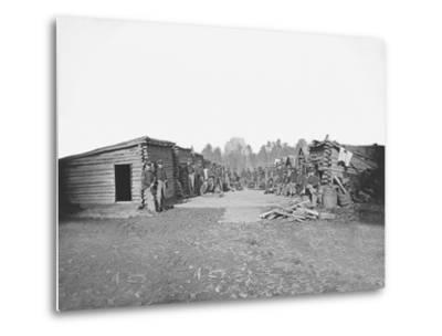Infantry Winter Quarters During the American Civil War-Stocktrek Images-Metal Print