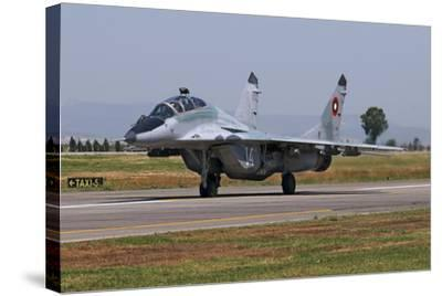 A Bulgarian Air Force Mig-29Ub Fulcrum Taxiing-Stocktrek Images-Stretched Canvas Print