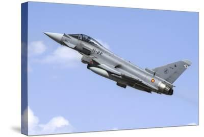 A Spanish Air Force Ef-2000 Typhoon Taking Off-Stocktrek Images-Stretched Canvas Print