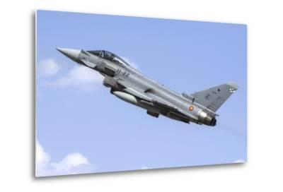 A Spanish Air Force Ef-2000 Typhoon Taking Off-Stocktrek Images-Metal Print
