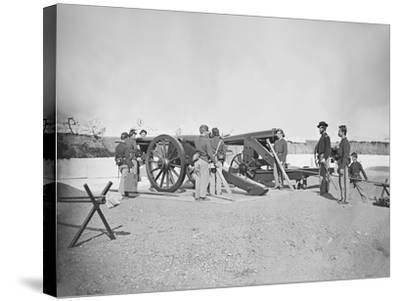 Artillery Drill in Fort During the American Civil War-Stocktrek Images-Stretched Canvas Print