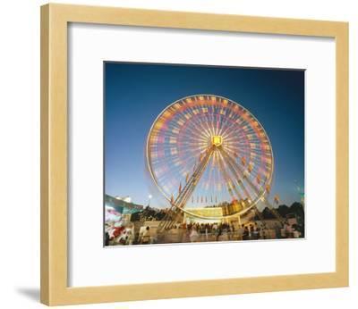 North Carolina State Fair Ferris Wheel-Henri Silberman-Framed Photographic Print