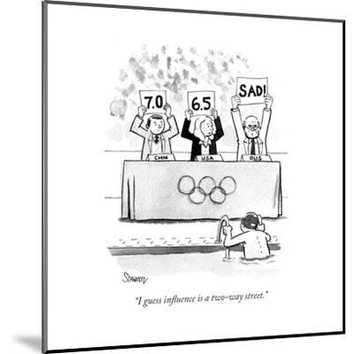 """I guess influence is a two-way street."" - Cartoon-Benjamin Schwartz-Mounted Premium Giclee Print"