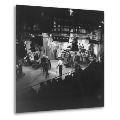 """Overall View of Production Scene from TV Series """"I Love Lucy,"""" Showing the Nightclub-Loomis Dean-Metal Print"""