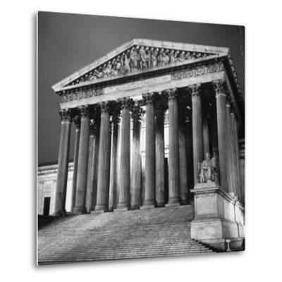 Exterior of the Supreme Court Building-Paul Schutzer-Metal Print