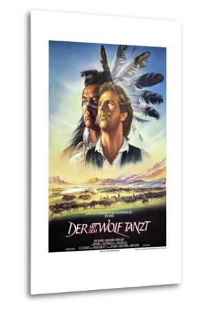 Dances with Wolves--Metal Print