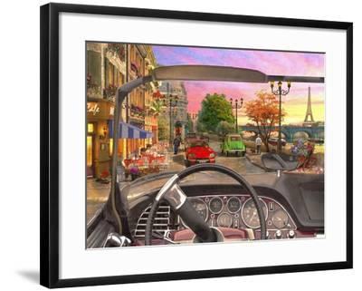 Paris in a Car-Dominic Davison-Framed Art Print