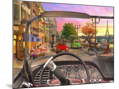 Paris in a Car-Dominic Davison-Mounted Art Print