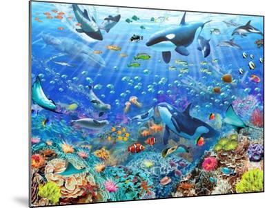 Underwater Scene-Adrian Chesterman-Mounted Art Print