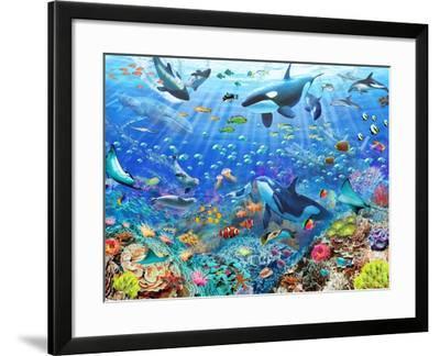 Underwater Scene-Adrian Chesterman-Framed Art Print