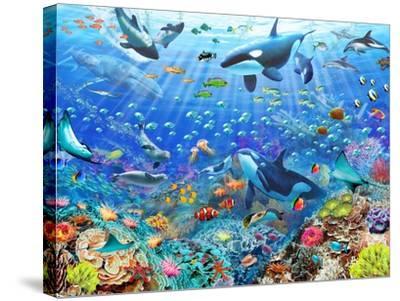 Underwater Scene-Adrian Chesterman-Stretched Canvas Print