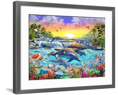 Tropical Cove-Adrian Chesterman-Framed Art Print