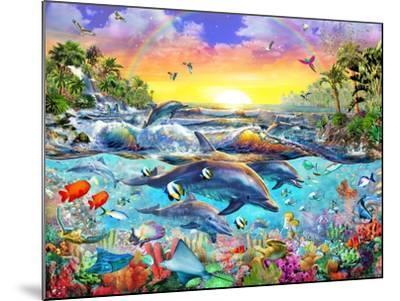 Tropical Cove-Adrian Chesterman-Mounted Art Print