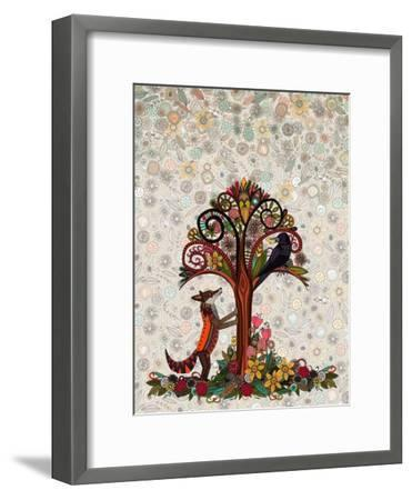 The Fox and the Crow (Variant 2)-Sharon Turner-Framed Art Print